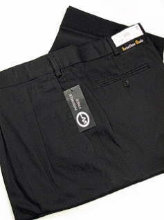 CASUAL SLACKS JONATHAN QUALE PLEAT XPAND WRNKLFREE 516-F BLACK 48 28 #156284