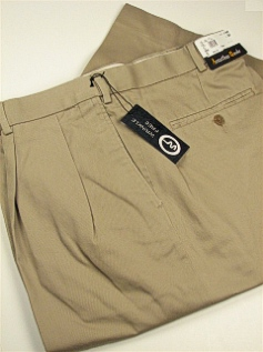 CASUAL SLACKS JONATHAN QUALE PLEAT XPAND WRNKLFREE 516-F KHAKI 48 32 #138824