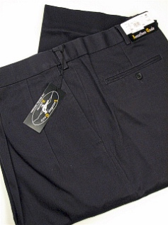 CASUAL SLACKS JONATHAN QUALE PLEAT XPAND WRNKLFREE 516-F NAVY 44 34 #220134