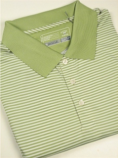 SPORTSHIRT SS KNIT CUTTER BUCK TREVOR STRIPE BCK00332-PGW GREEN 3XL TALL #346393