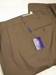 DRESS SLACKS TALLIA PLEAT ALL WOOL GAB RYDEPT TAN 60 REG #128872