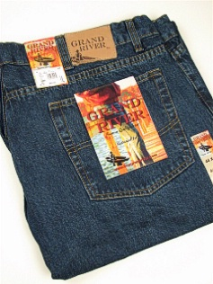 JEANS GRAND RIVER RINGSPUN RELAXED FIT 190- BLUE 44 34 #127189