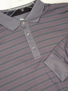 LS KNIT CREW CALLAWAY GOLF HORIZ STRIPE PLAYDRY BDFK185X-022 GRAY 3XL BIG #354141