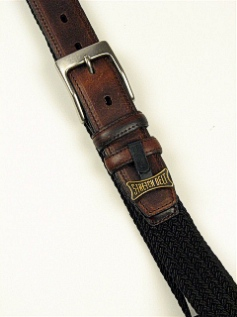 BELTS - CASUAL OUTFITTER BRAIDED CLOTH ELASTIC 6600600 BLACK 46  #040721