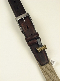 BELTS - CASUAL OUTFITTER BRAIDED CLOTH ELASTIC 6600600 KHAKI 54  #069395