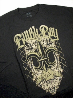 POCKET TEES BULKY BOY FLEUR DE LIS BB1048 BLACK 2XL BIG #321404
