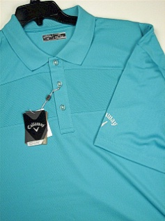 SPORTSHIRT SS KNIT CALLAWAY GOLF TEXTURED BLOCK POLO BESK274X-471 TURQUOIS 3XL BIG #303501