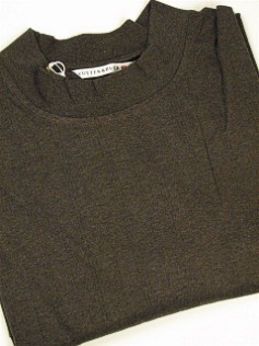 LS KNIT CREW CUTTER BUCK DAVENPORT MOCK BCK00231-EMH WALNUT 2XL TALL #095440