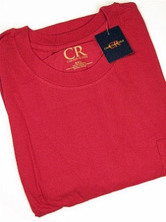 POCKET TEES FAMOUS MAKER POCKET TEE 42888-X CHERRY 5XL TALL #033224