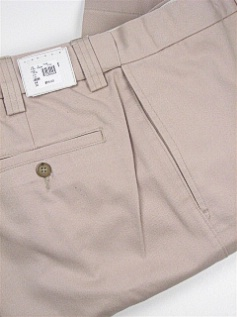CASUAL SLACKS FAMOUS MAKER PLAIN EXTEND-A-WAIST PLAIN KHAKI 50 28 #241137