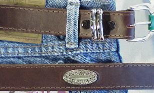 BELTS - CASUAL MARK WOLF CONCHO OIL TAN 210-BRN-X BROWN 66  #289144